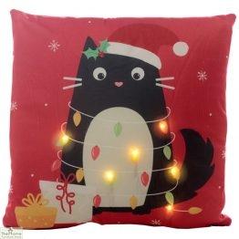 Cat LED Light Christmas Cushion